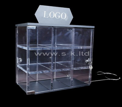 acrylic shop counter display cabinet