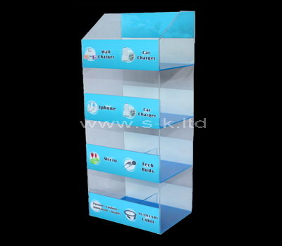 acrylic free standing display cabinet