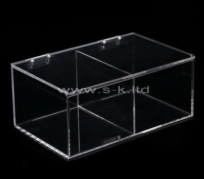 acrylic long storage box with lid