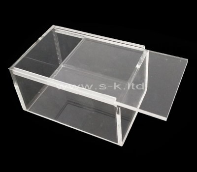 plexiglass rectangular storage box with lid
