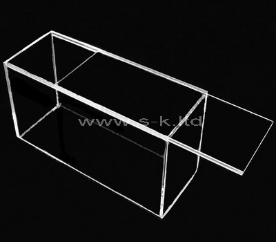 perspex long storage box with lid