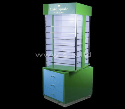 lucite display cabinet with drawers