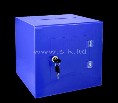 blue donation box
