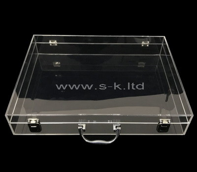 flat storage box with lid