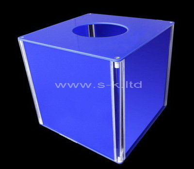 blue acrylic raffle box