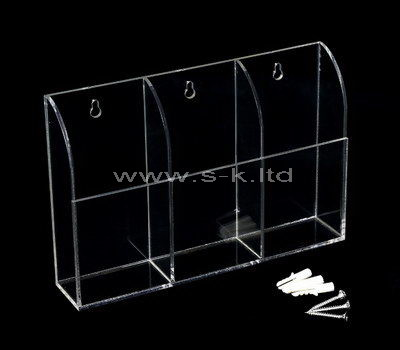 Wall mounted clear acrylic 3 grid display box