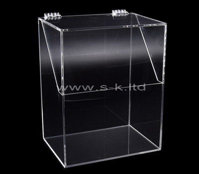 Large clear acrylic storage box with lid