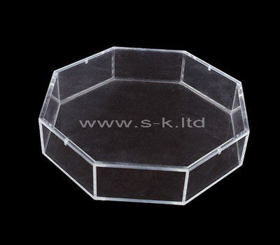 Octagonal clear acrylic storage box