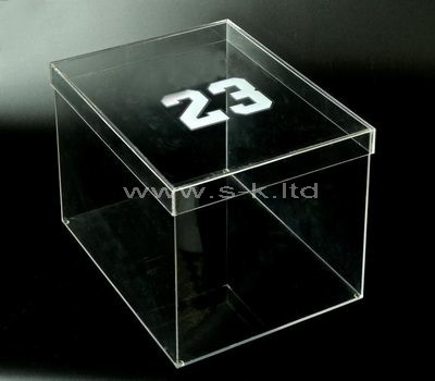 acrylic shoe storage box with lid