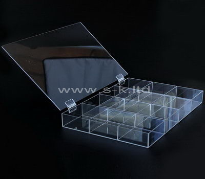 acrylic earring compartment box