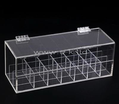 plexiglass multi compartment storage box
