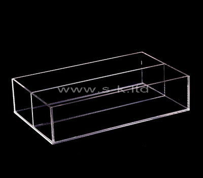 plexiglass clear compartment storage box