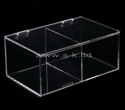 plexiglass clear compartment box