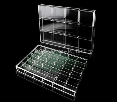 Clear acrylic jewelry organizers with lid
