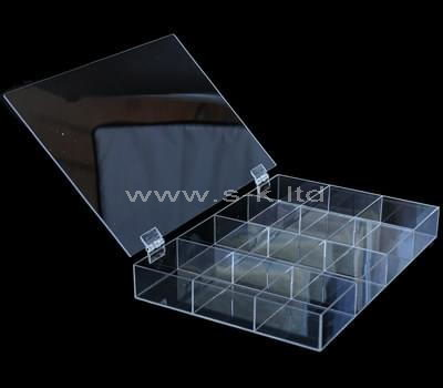 12 grids clear acrylic organizer box with lid