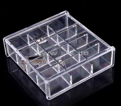 12 grids clear acrylic organizer with lid