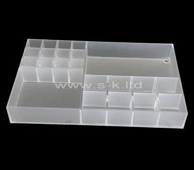 Multi grids acrylic organizer box
