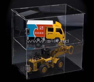 Clear acrylic toy cars display case