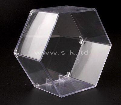 Octagon clear acrylic display case
