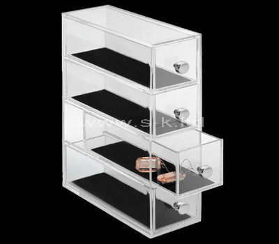 Tall clear acrylic 4 drawers display case