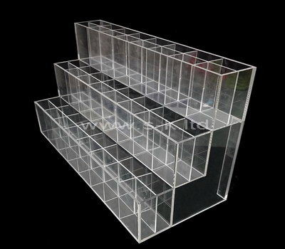 Three tiered clear acrylic multi grids display case