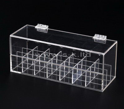 Clear acrylic 21 grids display case with lid