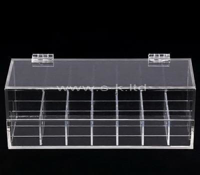 Clear acrylic multi grids display cases with lid