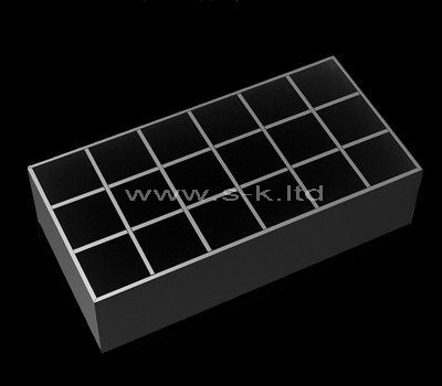 Black acrylic 18 grids display cases