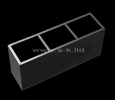 Black acrylic 3 grids display cases