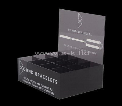 Black acrylic 12 grids display holders
