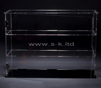 2 tiered narrow clear acrylic display case