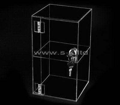 Small clear acrylic display case with lock