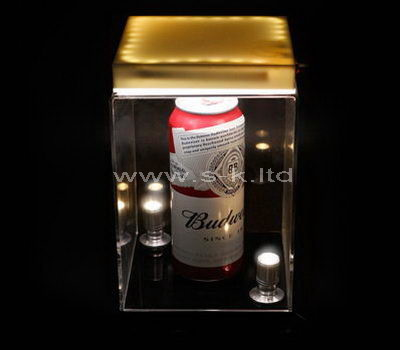 Small clear acrylic beer display case