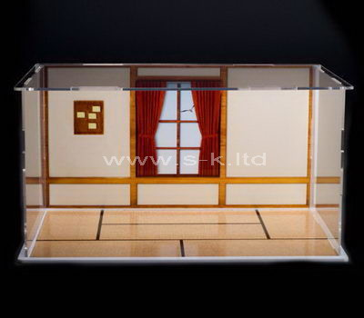 Clear acrylic painting house display cabinet