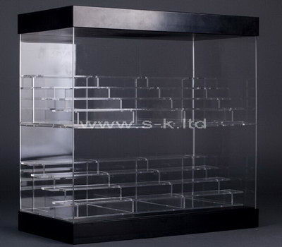 Multi tiered clear acrylic display cabinet