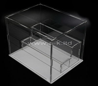 2 tiered clear acrylic display case