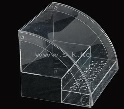 2 tiered clear acrylic display cabinet