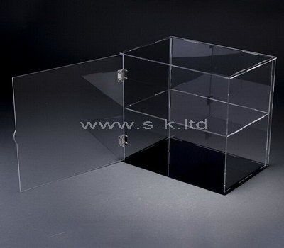 Clear acrylic display cabinet with door