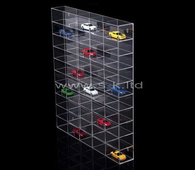 Clear acrylic multi grids model cars display cabinet