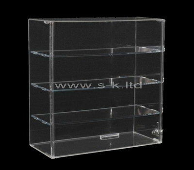 4 tiered narrow clear acrylic display cabinet