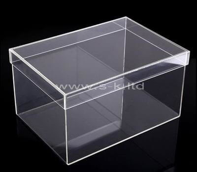 Custom design clear acrylic storage box with lid