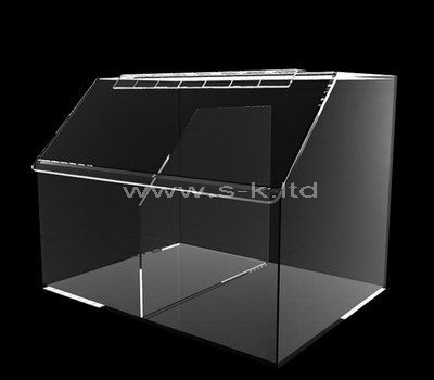 Custom design clear acrylic 2 grids box with lid