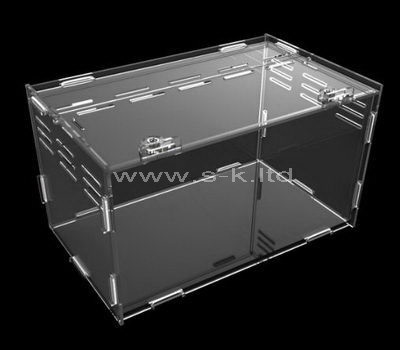 Custom clear acrylic storage box with lid