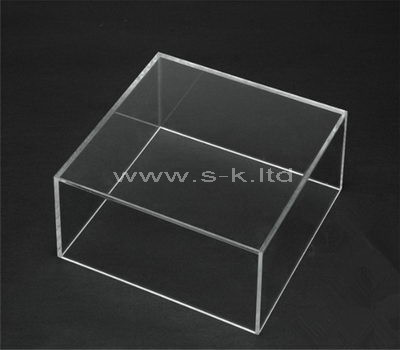 Custom design flat clear acrylic box