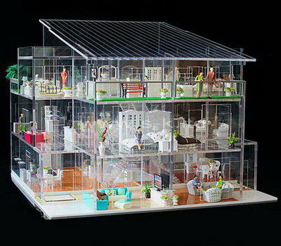 Custom design clear acrylic model building display case