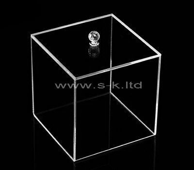 Custom design square clear acrylic display box with lid
