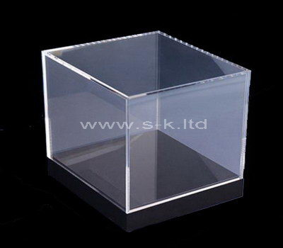 Custom design square clear acrylic storage box with lid