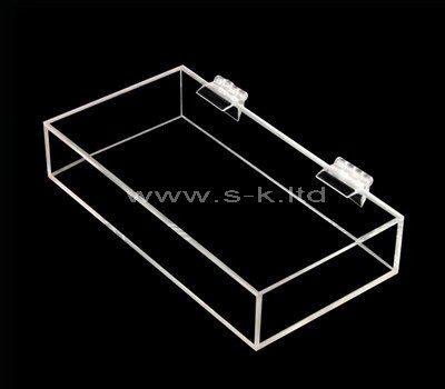 Custom design small clear acrylic box with lid