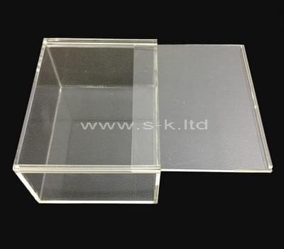 Custom design small clear acrylic sliding box
