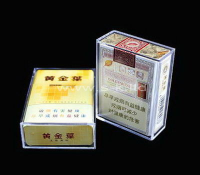 Custom design small clear acrylic cigarette box